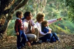семья в лесу